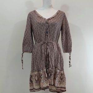 H & M Brown & Tans Dress SZ 14
